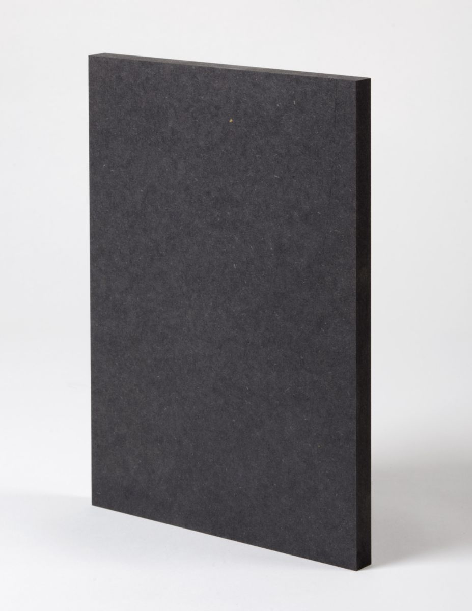 finsa mdf teint 233 dans la masse fibracolour couleur noir format 285x210cm en 8mm dispano