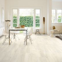 Revêtement de sol stratifié Quick-Step CREO Uniclic CR3178 Chêne Charlotte Blanc Bords Droits 7x190x1200mm Classe 32