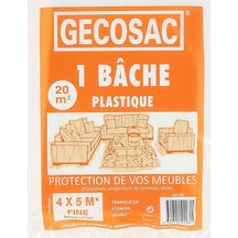 B�che de protection poly�thyl�ne 4x5m 100 microns translucide