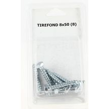 Tirefond - 8x50 mm - paquet de 8 pcs