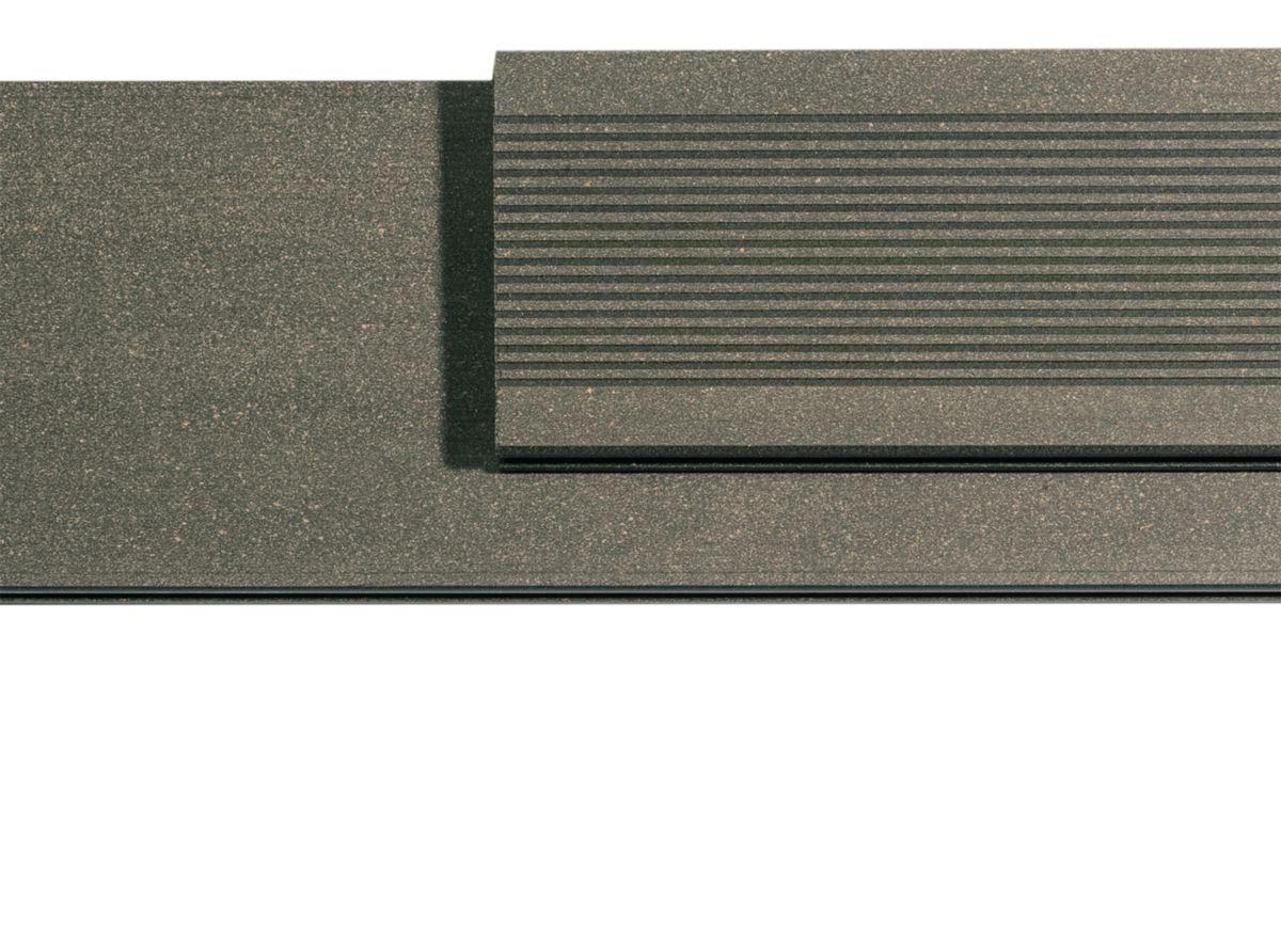 silvadec lame de terrasse l gance lisse 23x180mm longueur 4m gris anthracite dispano