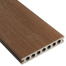 Lame de terrasse bois composite co-extrudé Patio - L. 3,60 m - brun - 22,5x145 mm