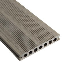 Lame de terrasse bois composite co-extrudé Patio - taupe - L. 3,60 m - 22,5x145 mm
