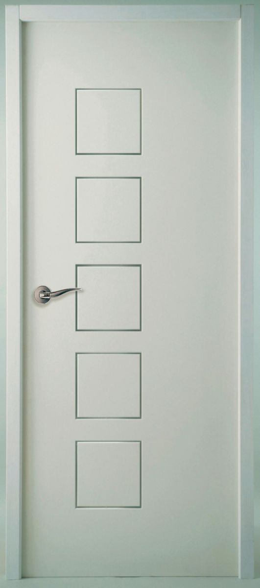 Bloc-porte alvéolaire huisserie Perf+ 86 mm Cubisme Moderna blanc Jeld-Wen - 204x73 cm poussant gauche
