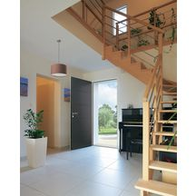 porte entr e acier optimum laqu gris anthracite 7016. Black Bedroom Furniture Sets. Home Design Ideas