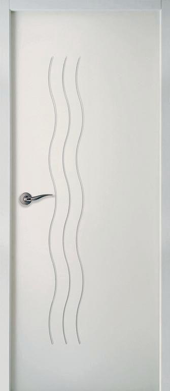 Bloc-porte isolant Climat B huisserie Perf+ 72 mm Cascade Moderna blanc Jeld-Wen - 204x83 cm poussant gauche
