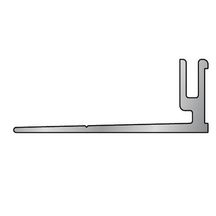 Socle nez de marche adaptable - aluminium - L. 2,7 m - l. 40 mm - H. 7,5 mm