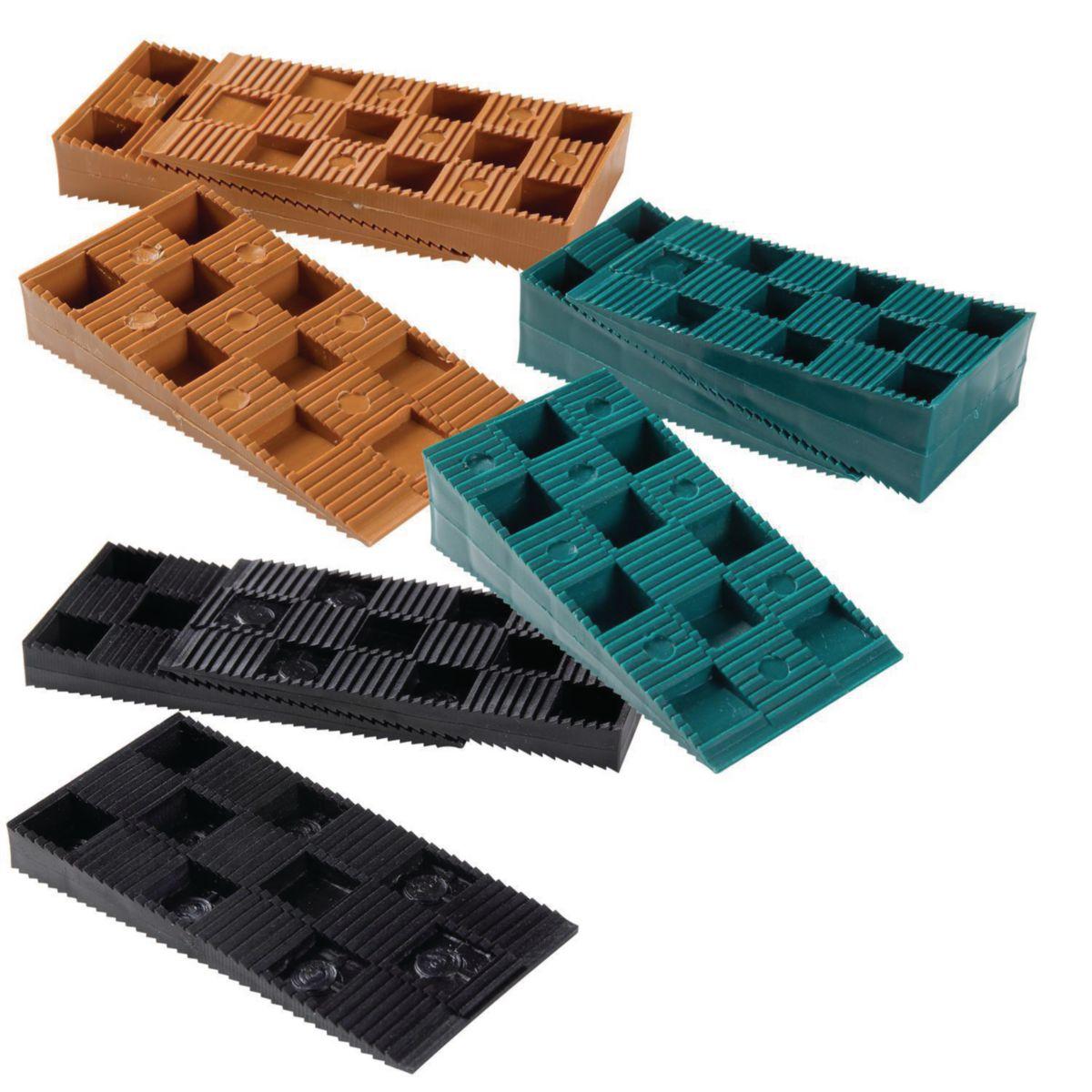 Cales Crantées Mix (3x20 Cales)   NIVO   Terrasse   Bois Panneaux  Menuiseries   Dispano Idees