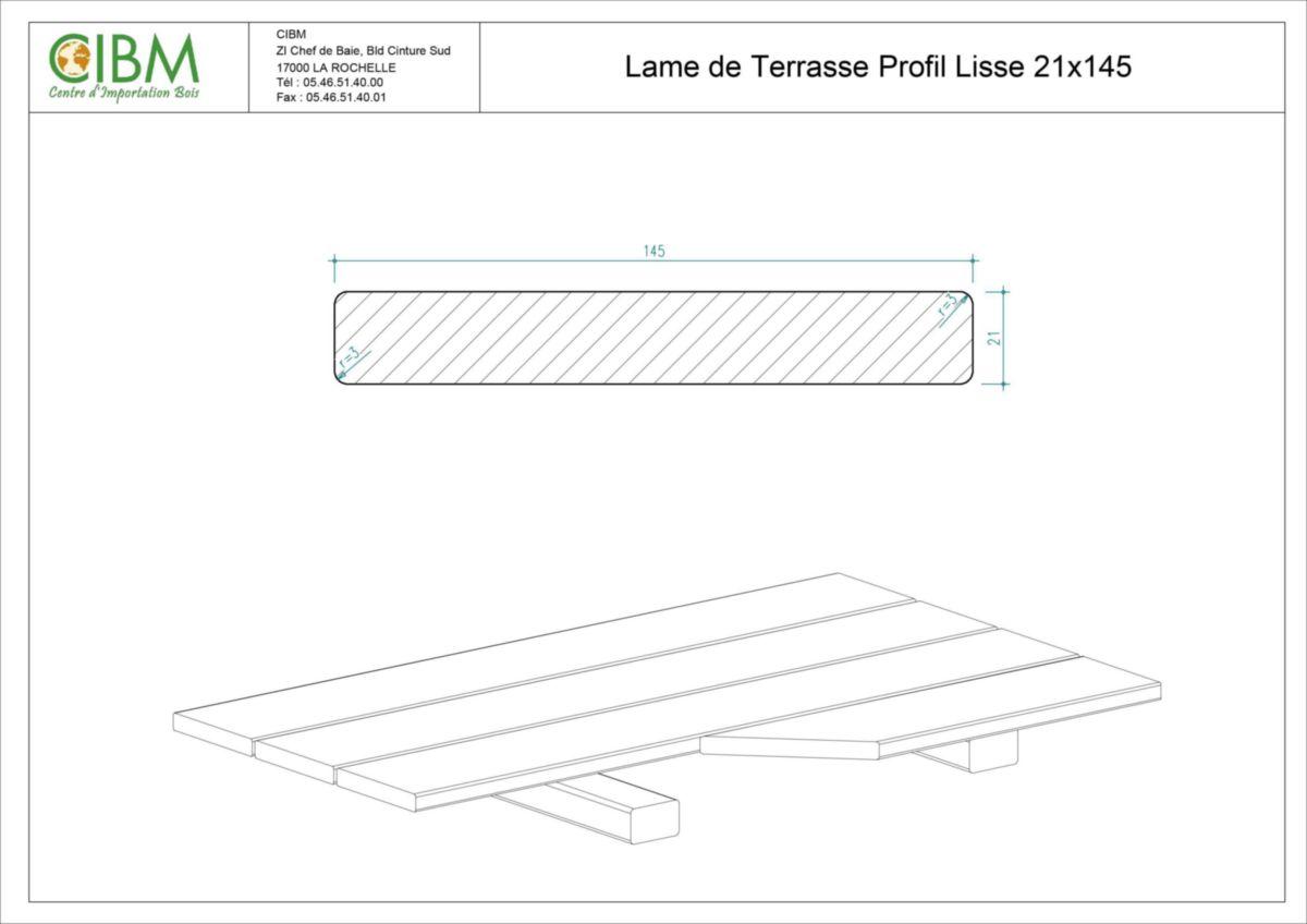 Lame De Terrasse Ipé Profil Lisse Short 21x145mm Cibm