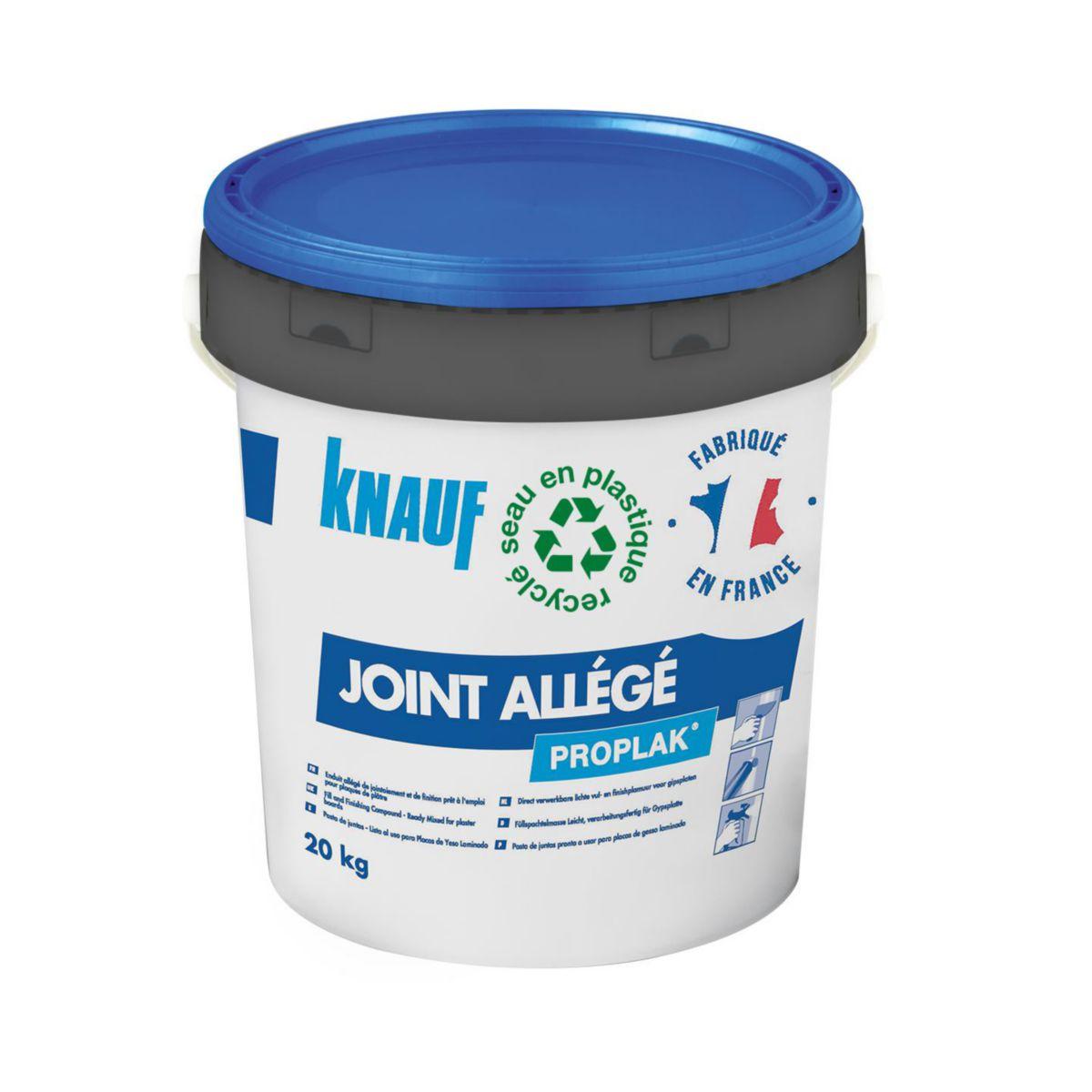Knauf Knauf Proplak Joint Allege Bleu Enduit Allege De Jointoiement Et De Finition Pret A L Emploi Pour Plaques De Platre 584653 Seau De 17 Litres Dispano
